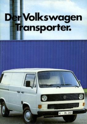 VW T 3 Transporter Prospekt 1983