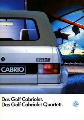 VW Golf 1 Cabriolet Prospekt 1990