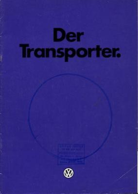 VW T 3 Transporter Prospekt 1.1980