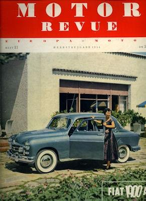 Motor Revue Nr.11 3.1954