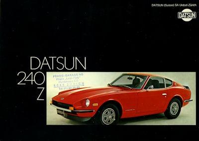 Datsun 240 Z Prospekt 12.1972