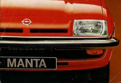 Opel Manta Prospekt 4.1977