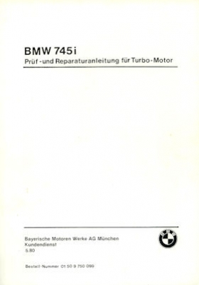 BMW 745i Reparaturanleitung 5.1980