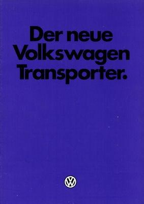 VW T 3 Der neue Transporter Prospekt 6.1979