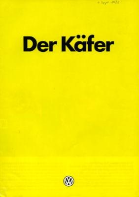 VW Käfer Prospekt 8.1983