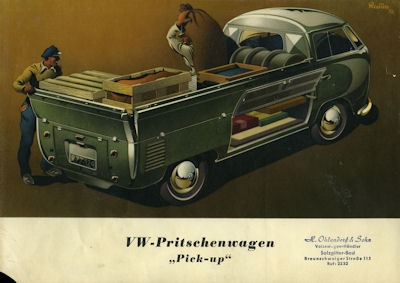 VW Pritschenwagen Pick up Prospekt 1953