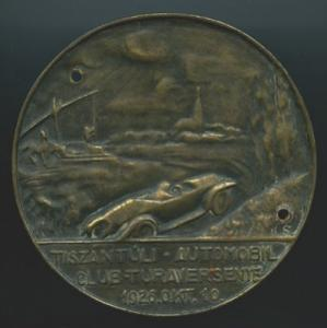 Plakette Tiszántúli Automobil Club Turaversenye 10.10.1926