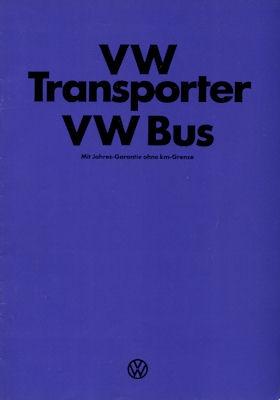 VW T 2 Transporter und Bus Prospekt 1976