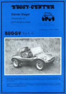 VW Buggy Typ L + C Prospekt 1970er Jahre