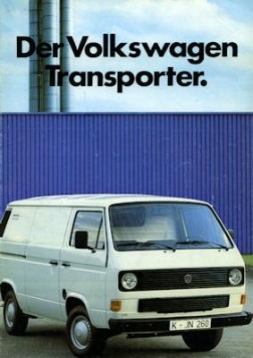 VW T 3 Transporter Prospekt 1984
