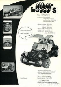 VW / Albar Buggy S Prospekt 1970/80er Jahre