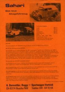 VW / Albar Sahari Prospekt 1970/80er Jahre
