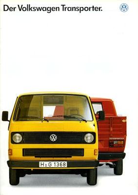 VW T 3 Transporter Prospekt 1989