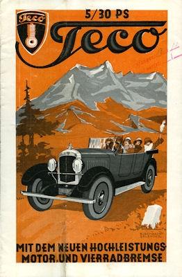 Teco 5/30 PS Prospekt 1926