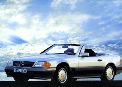Mercedes-Benz SL Prospekt 1989 f