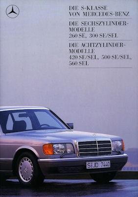 Mercedes-Benz 260 SE - 560 SEL Prospekt 1988