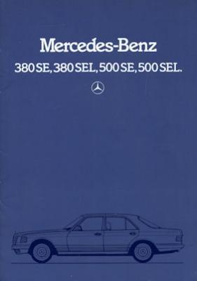 Mercedes-Benz 380 SE SEL 500 SE SEL Prospekt 6.1983