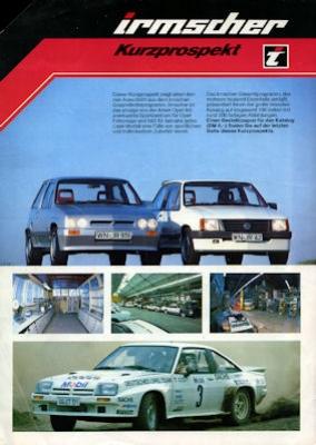 Opel Irmscher Kurz-Prospekt 1980er Jahre