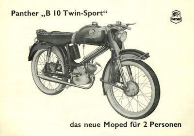 Panther B 10 Twin Sport Prospekt 1960er Jahre