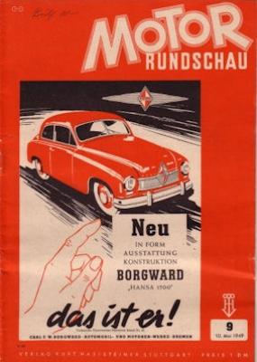 Motor Rundschau 1949 Heft 9