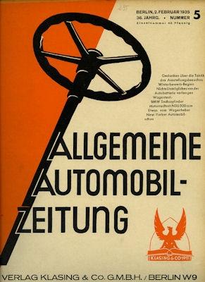 Allgemeine Automobil Zeitung (AAZ) 1935 Heft 5