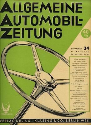 Allgemeine Automobil Zeitung (AAZ) 1940 Heft 34