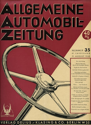 Allgemeine Automobil Zeitung (AAZ) 1940 Heft 35