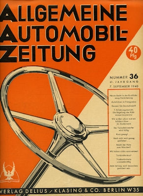 Allgemeine Automobil Zeitung (AAZ) 1940 Heft 36