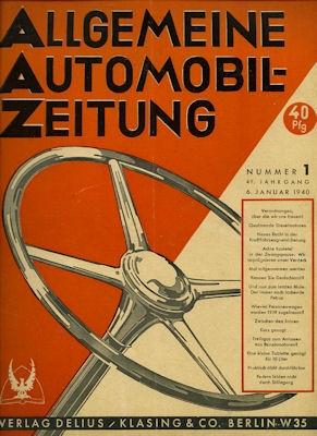 Allgemeine Automobil Zeitung (AAZ) 1940 Heft 1