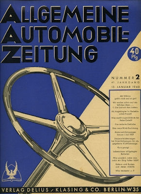 Allgemeine Automobil Zeitung (AAZ) 1940 Heft 2