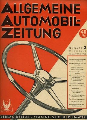 Allgemeine Automobil Zeitung (AAZ) 1940 Heft 3