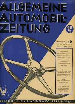 Allgemeine Automobil Zeitung (AAZ) 1940 Heft 6