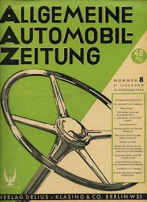 Allgemeine Automobil Zeitung (AAZ) 1940 Heft 8