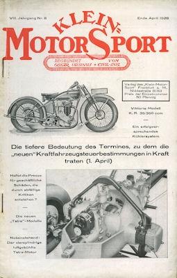 Klein-Motor-Sport 1928 Heft 4