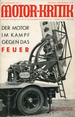 Motor-Kritik 1932 Heft 17