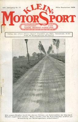 Klein-Motor-Sport 1928 Heft 17