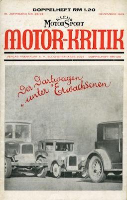 Klein-Motor-Sport / Motor-Kritik 1929 Heft 23/24
