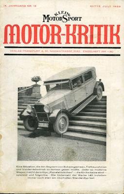 Klein-Motor-Sport / Motor-Kritik 1929 Heft 13
