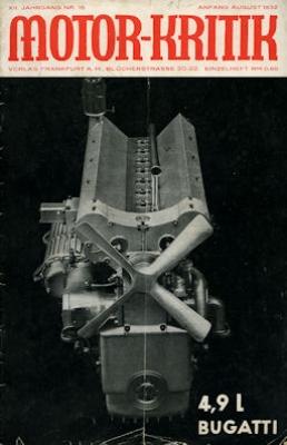 Motor-Kritik 1932 Heft 15