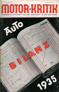 Motor-Kritik 1936 Heft 1