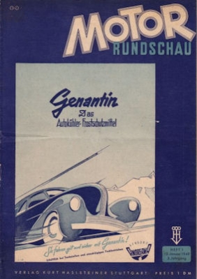 Motor Rundschau 1949 Heft 1