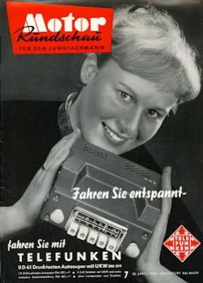 Motor Rundschau 1956 Heft 7