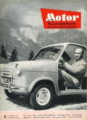 Motor Rundschau 1958 Heft 4