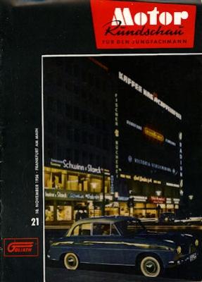 Motor Rundschau 1956 Heft 21