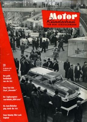 Motor Rundschau 1957 Heft 19