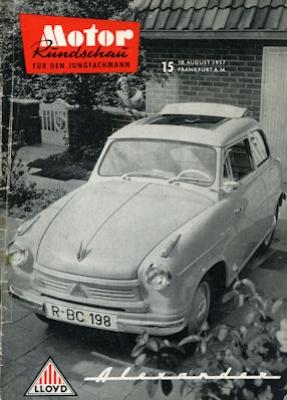 Motor Rundschau 1957 Heft 15