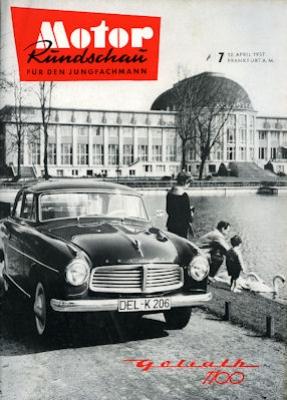 Motor Rundschau 1957 Heft 7