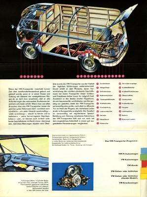 VW Bus / Transporter Prospekt 1950er Jahre 1