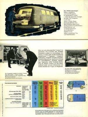 VW Bus / Transporter Prospekt 1950er Jahre 3
