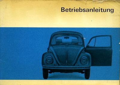 VW Käfer Bedienungsanleitung 8.1969